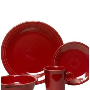 Bright scarlet Red fiesta ware dishes